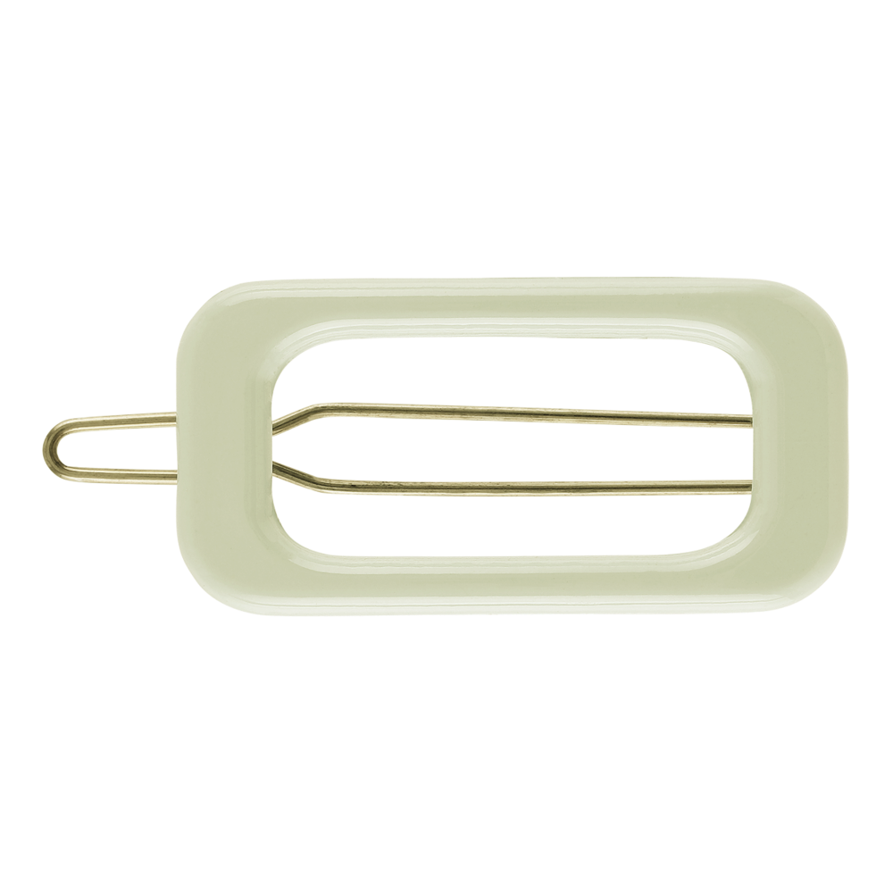 Rectangle Barette Hair Clip - Olive Green