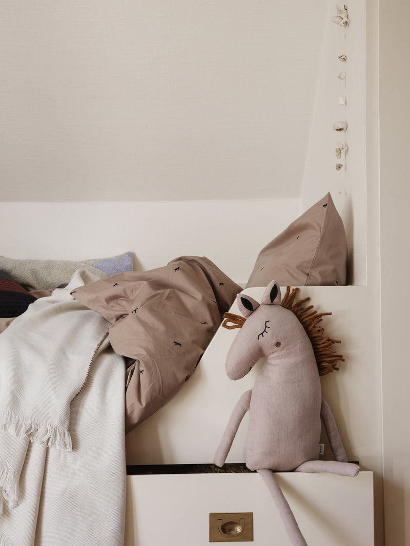 Ferm Living Safari Cushion - Horse - Dusty Rose