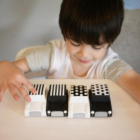 Kiko Wooden Toys -  Kuruma Wooden Car / White Dots