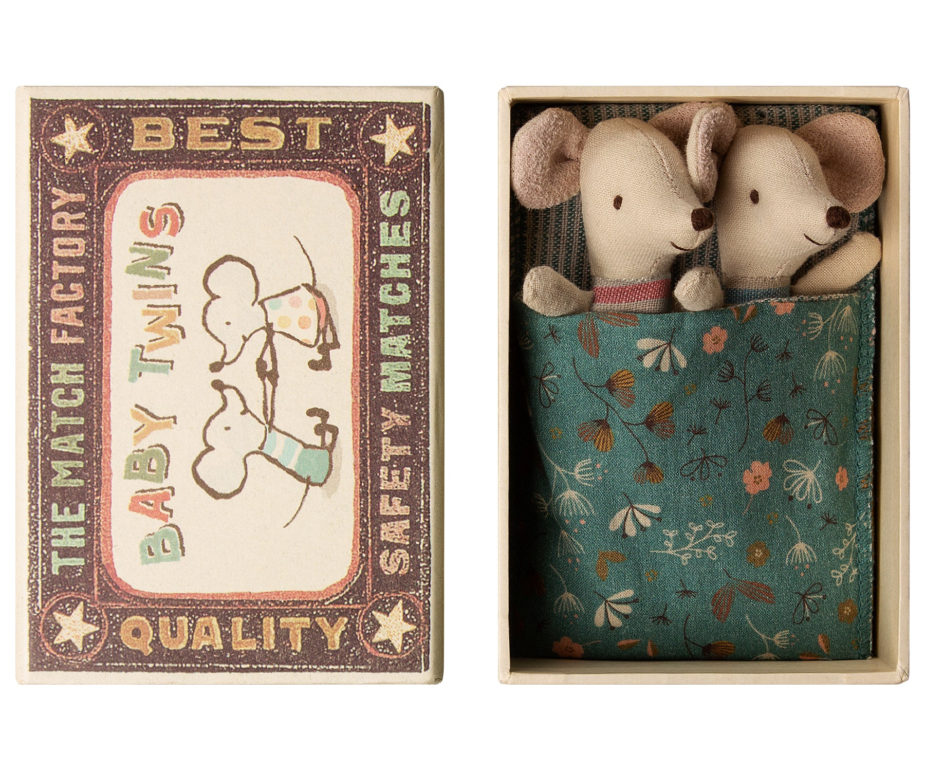 Maileg Baby Mice, Twins In Box (PREORDER)