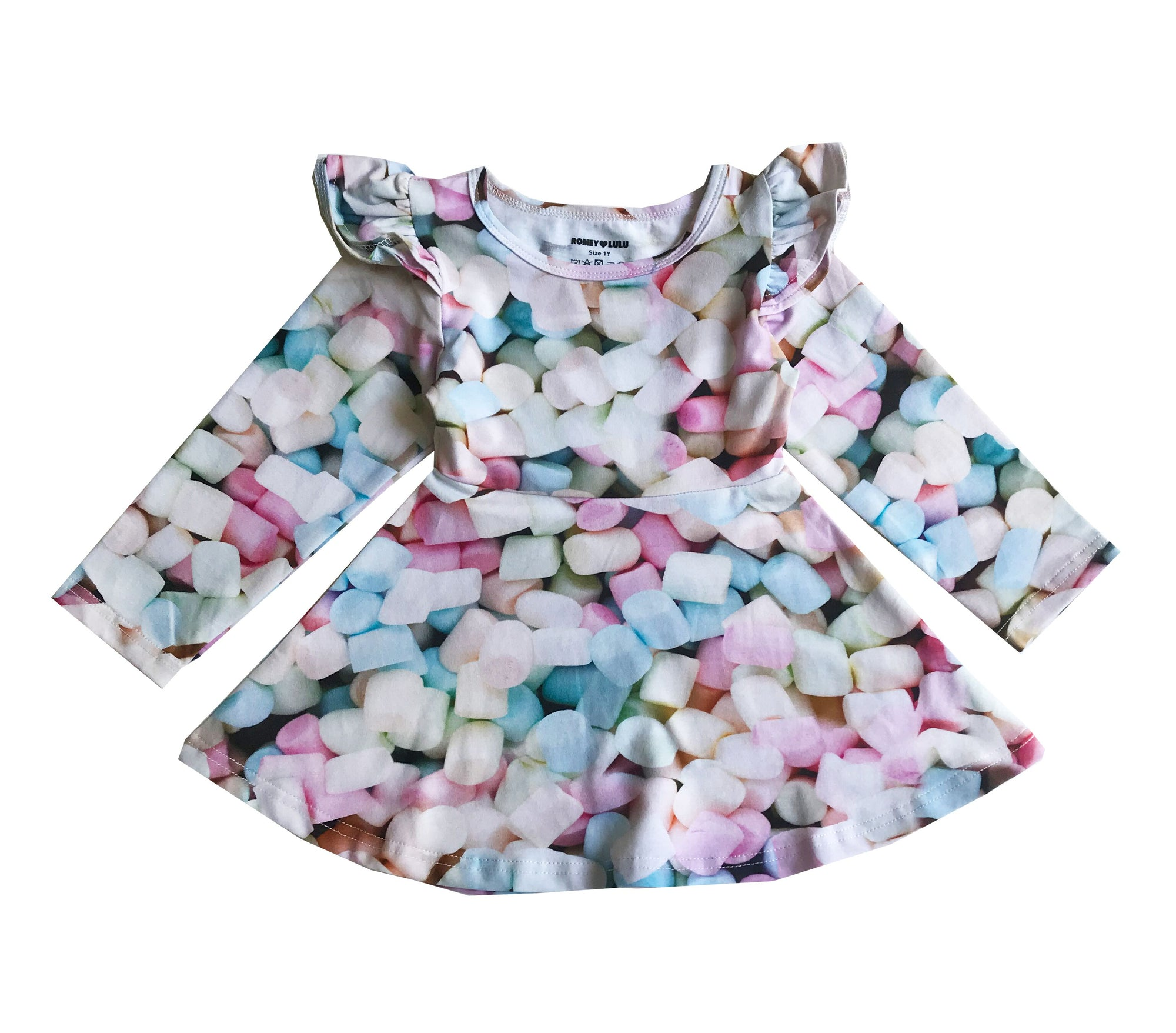 Romey Loves Lulu Marshmallows Ruffle Skater Dress