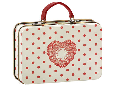 Maileg Metal Suitcase, Cream and Coral