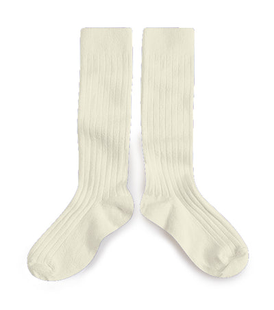 Collegien Ribbed Knee High Socks / Agneaux