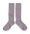 Collegien Ribbed Knee High Socks / Glycine du Japon