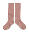 Collegien Ribbed Knee High Socks / Bois de Rose
