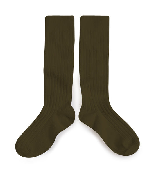 Collegien Ribbed Knee High Socks / Cactus du Mexique