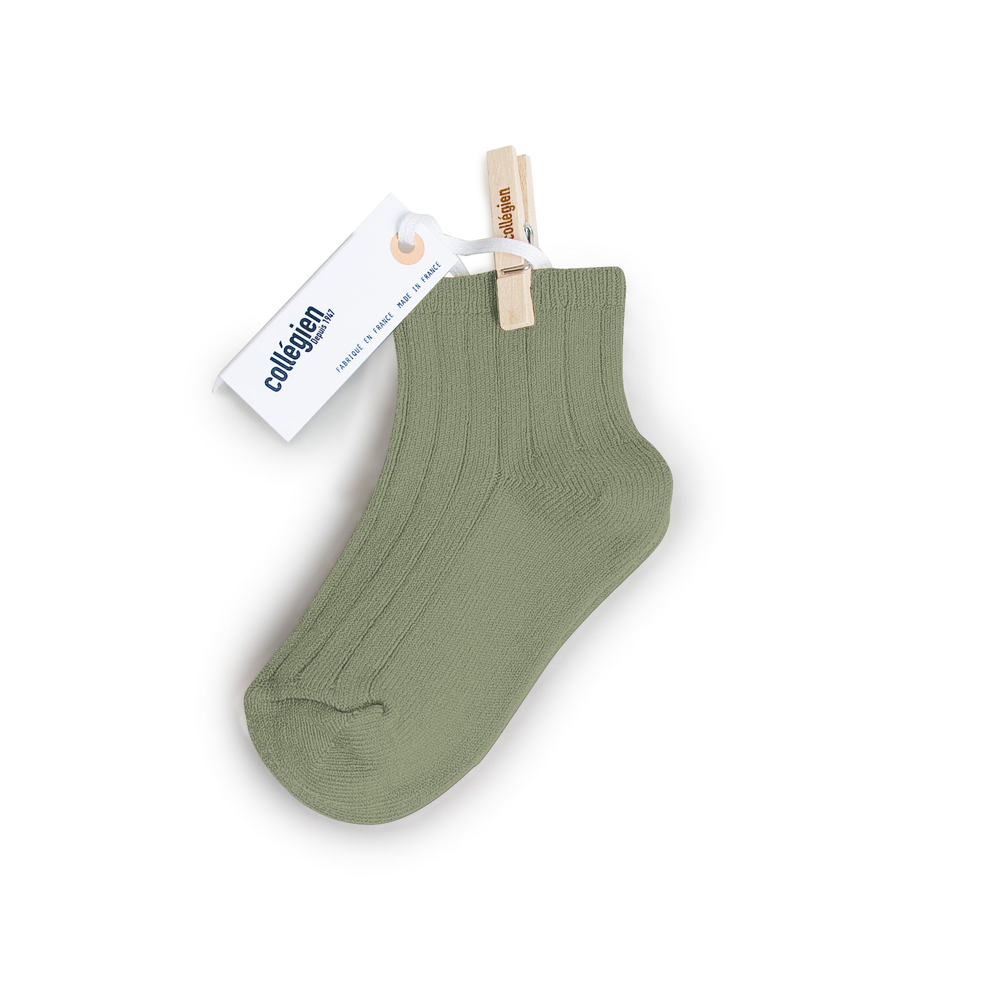Collegien Ribbed Ankle Socks / Safari