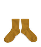 Collegien Ribbed Ankle Socks / Moutarde de Dijon