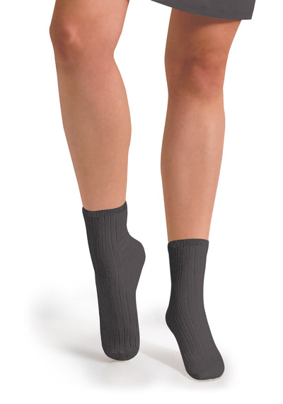 Collegien Ribbed Ankle Socks / Orage
