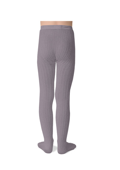 Collegien Ribbed Tights / Glycine Du Japon