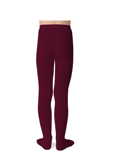 Collegien Ribbed Tights / Marsala
