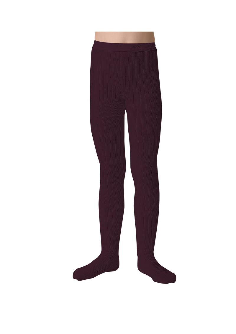 Collegien Ribbed Tights / Aubergine