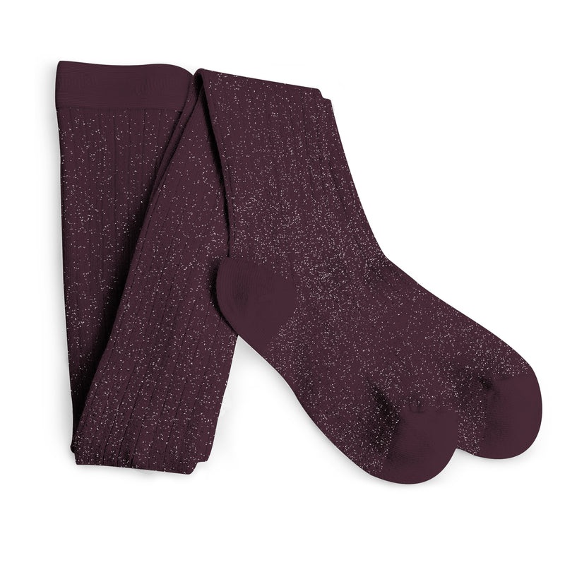 Collegien Glitter Tights / Aubergine