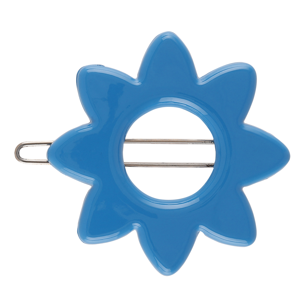 Star Flower Barette Hair Clip - Royal Blue