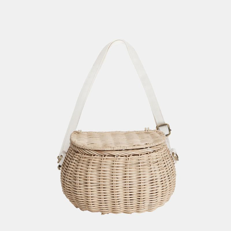 Olli Ella Mini Chari Bag - Straw