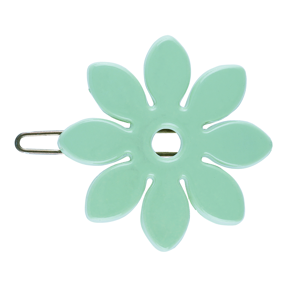 Flower Barette Hair Clip - Tiffany Blue