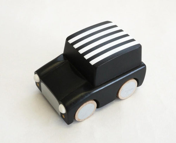 Kiko Wooden Toys -  Kuruma Wooden Car / Black Stripes