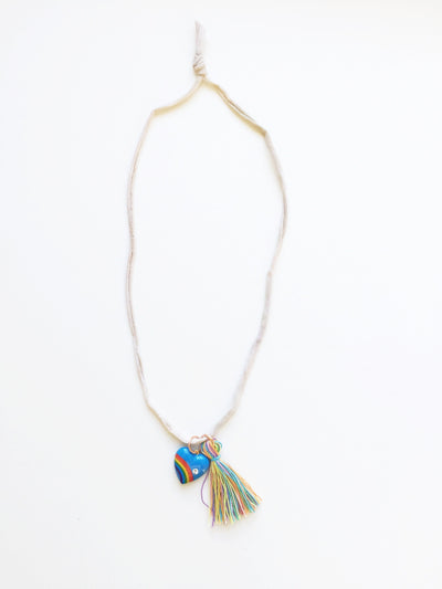 Parsy And The Date Vintage Heart Tassel Necklace - Le Petit Organic