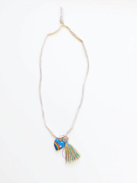 Parsy And The Date Vintage Heart Tassel Necklace