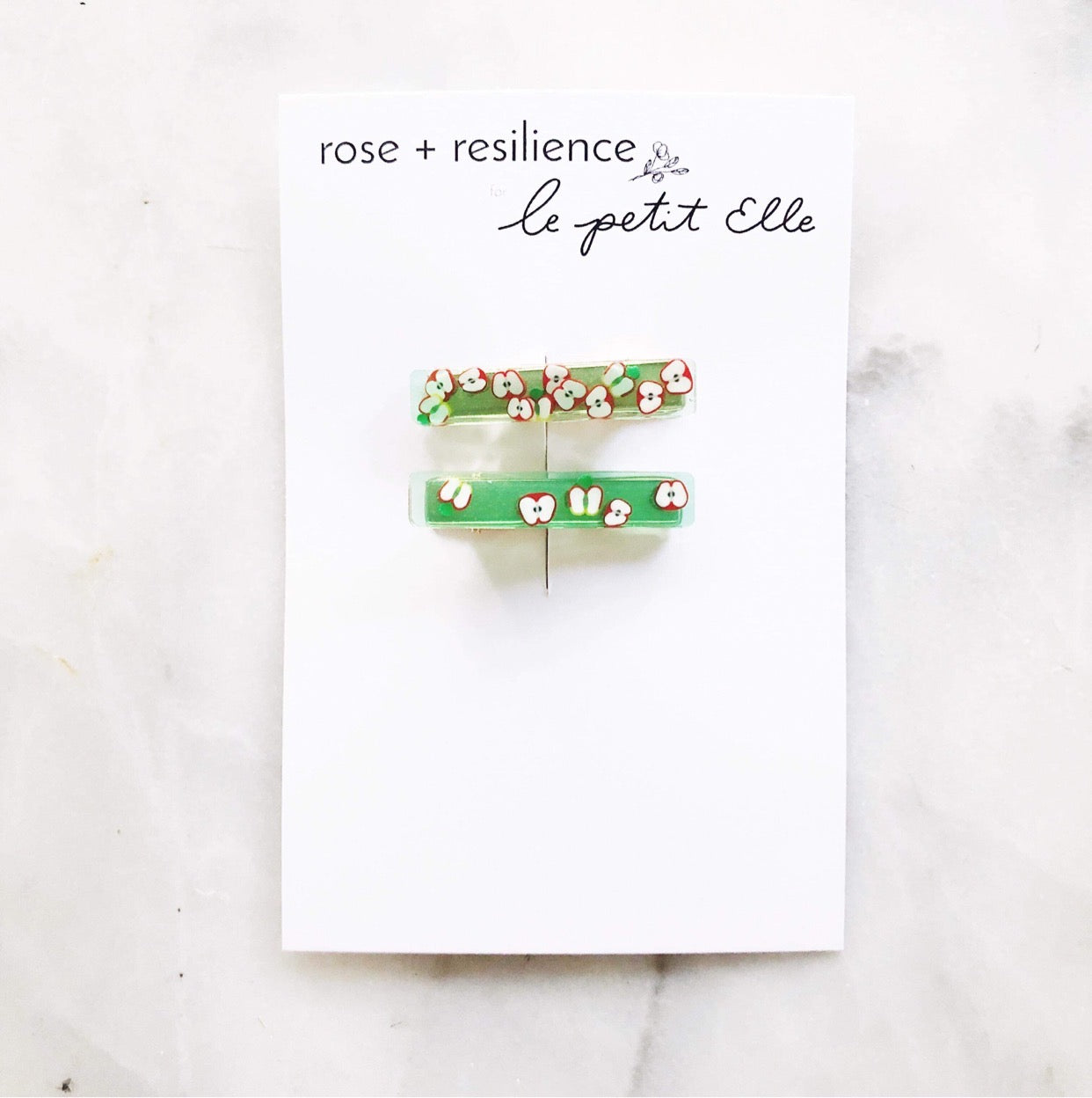 Le Petit Elle X Rose + Resilience Apple Clips Set