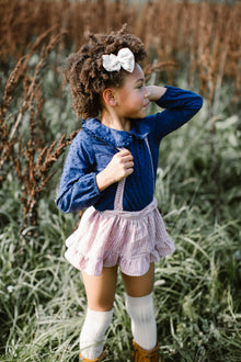 Collegien Ribbed Knee High Socks / Vanilla - Le Petit Organic