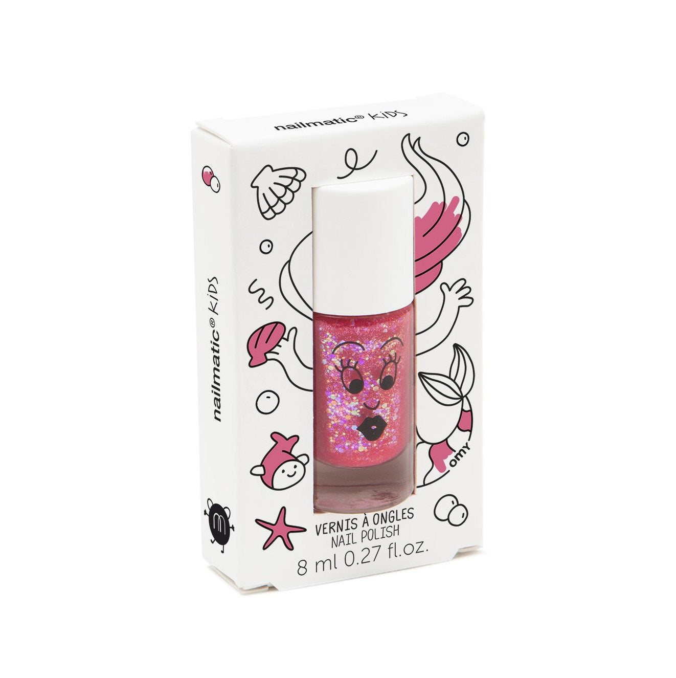 Nailmatic Water Based Nail Polish - Sissi/Pink Glitter