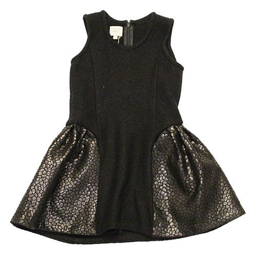 Hilda Henri Nora Dress Black - Le Petit Organic - 1
