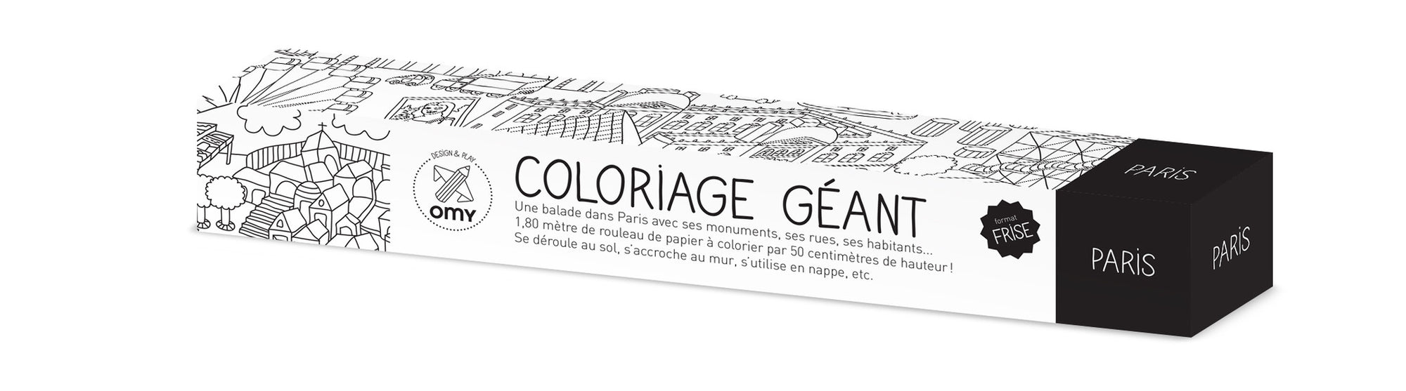 Omy Giant Paris Frieze Coloring Roll