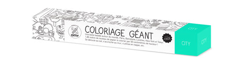 "OMY Giant ""City"" Frieze Coloring Roll - Le Petit Organic - 1"