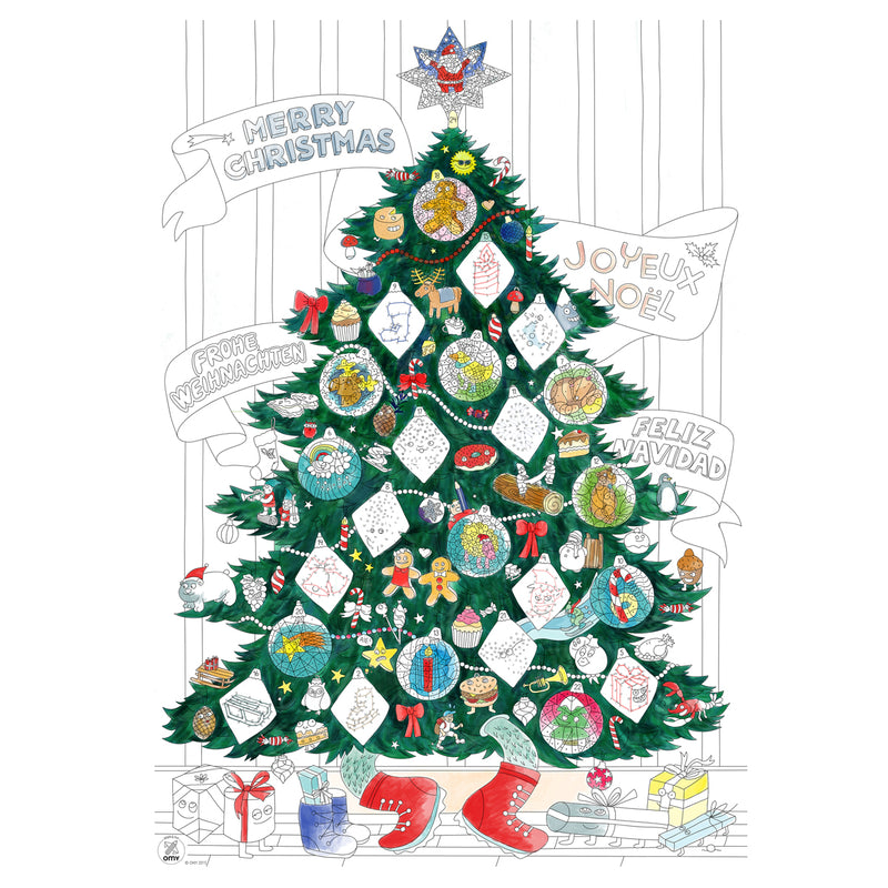 "OMY ""Christmas Tree"" Coloring Poster"