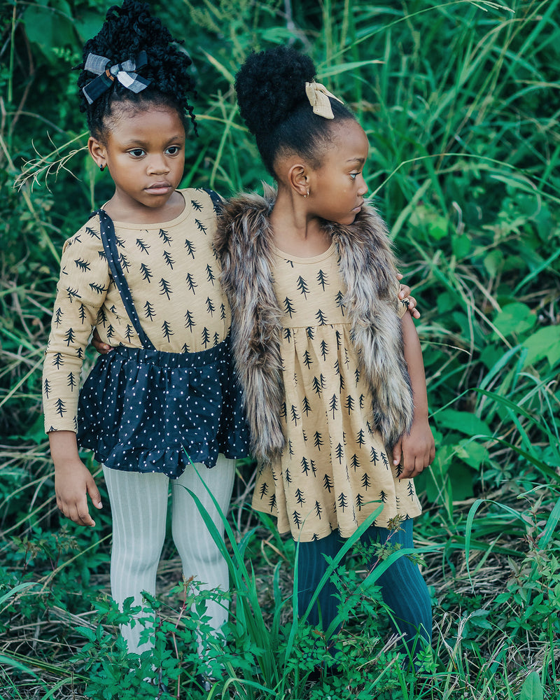 Rylee & Cru X Le Petit Organic Evergreen Finn Dress