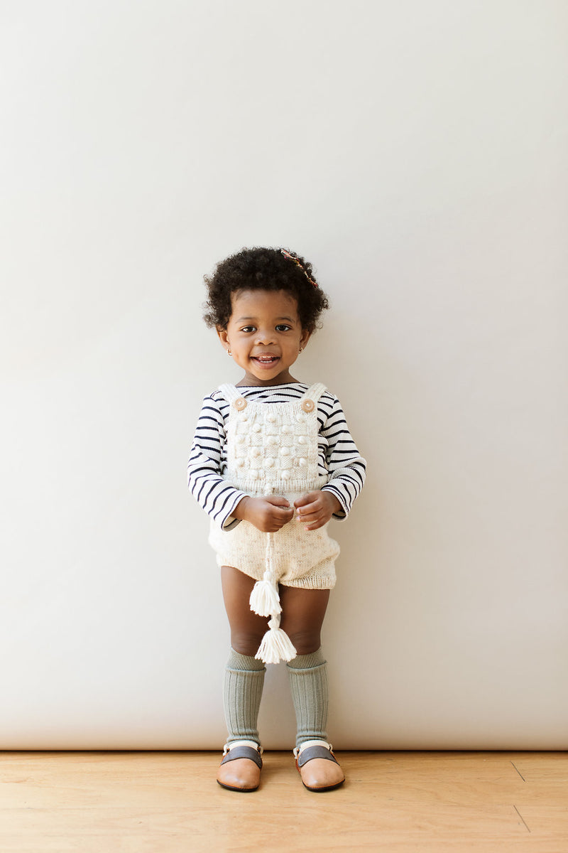 Collegien Ribbed Knee High Socks / Safari