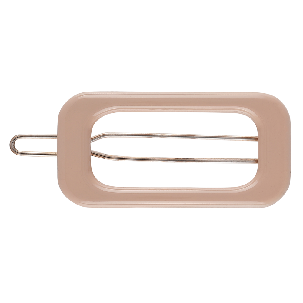 Rectangle Barette Hair Clip - Taupe
