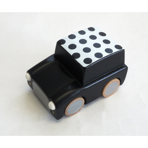 Kiko Wooden Toys -  Kuruma Wooden Car / Black Dots
