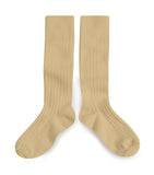 Collegien Ribbed Knee High Socks / Vanilla