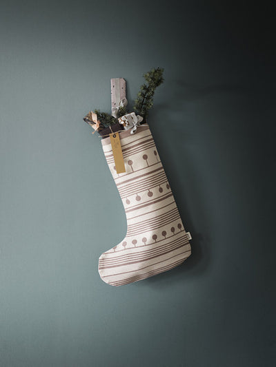 Ferm Living Winter Christmas Stocking - Le Petit Organic - 2