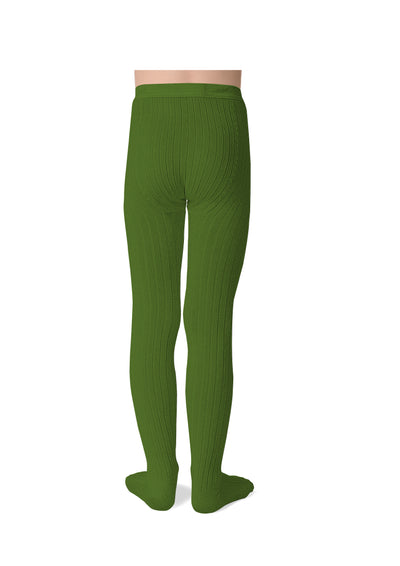 Collegien Ribbed Tights / Kale - Le Petit Organic