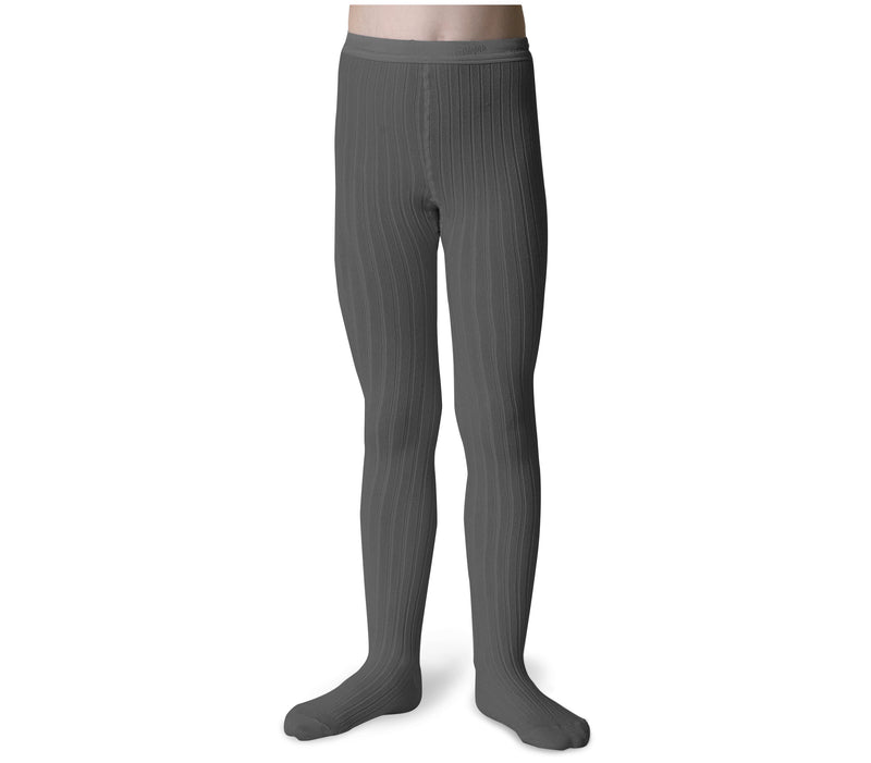 Collegien Ribbed Tights / Grey - Le Petit Organic