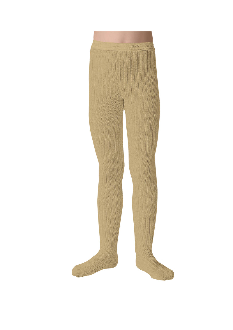Collegien Ribbed Tights / Vanilla - Le Petit Organic