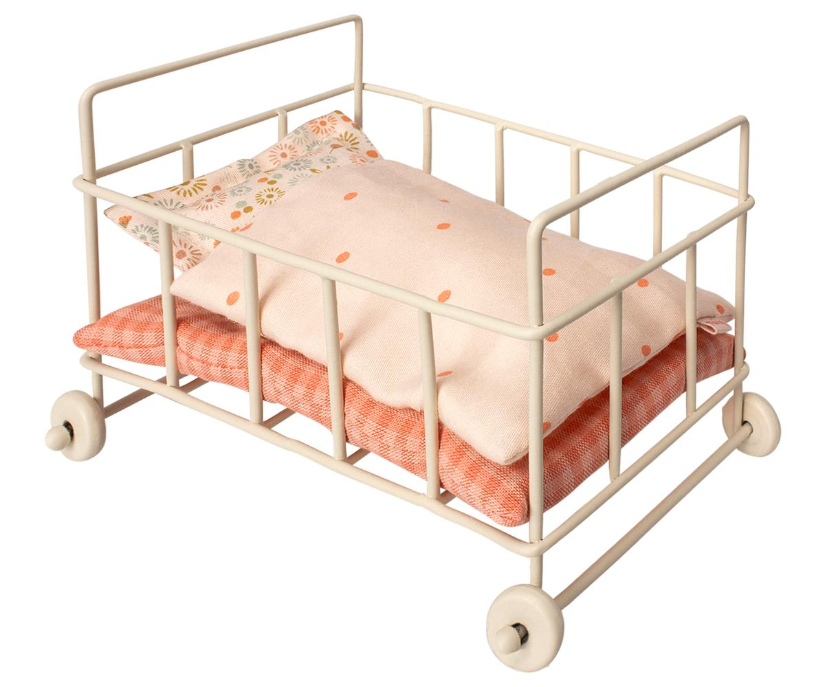 Maileg Micro Metal Baby Cot