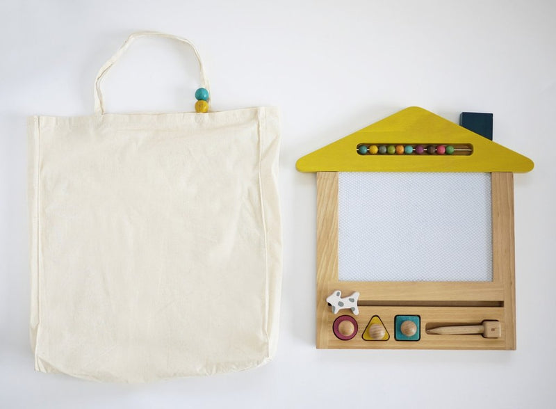 Kiko Wooden Toys -  Oekaki house (dog) - magic drawing board