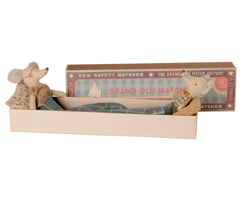 Maileg Grandma & Grandpa Mice in Matchbox