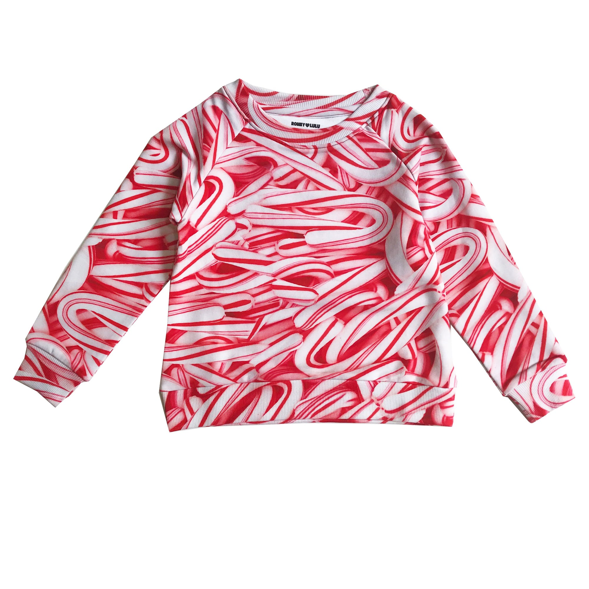 Romey Loves Lulu Candy Canes Sweatshirt
