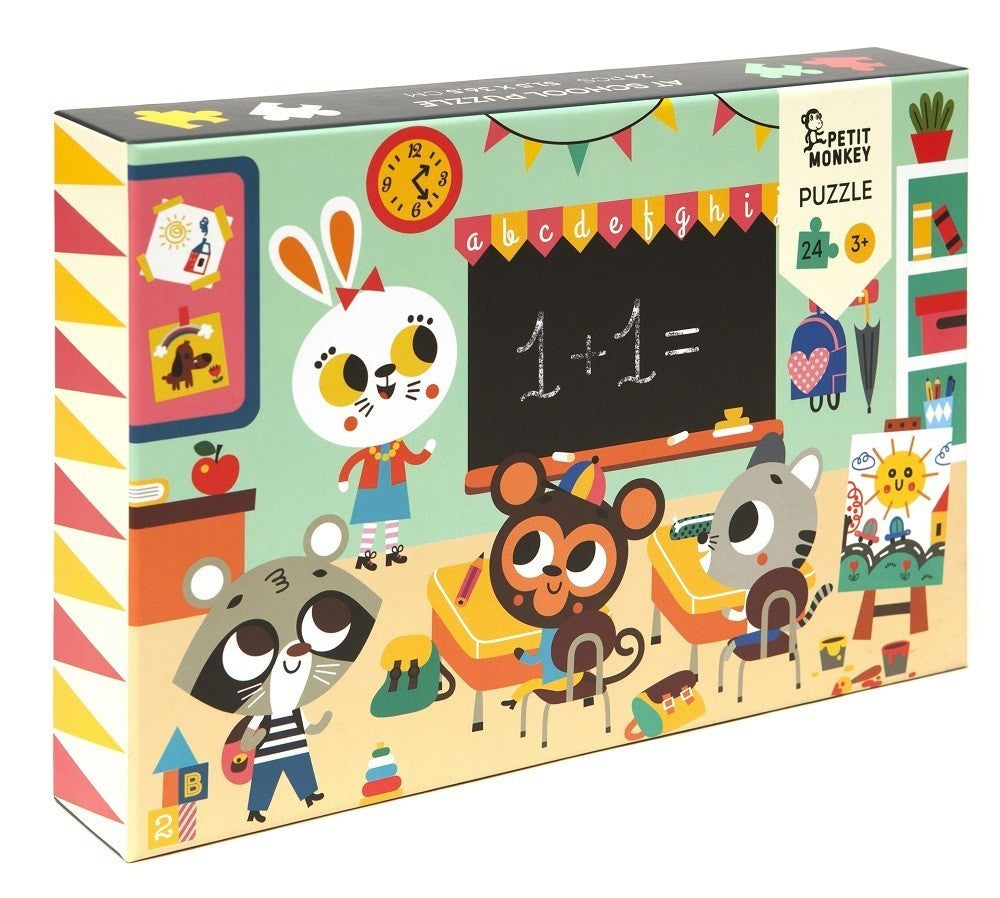 Petit Monkey At School Puzzle 24 Pcs