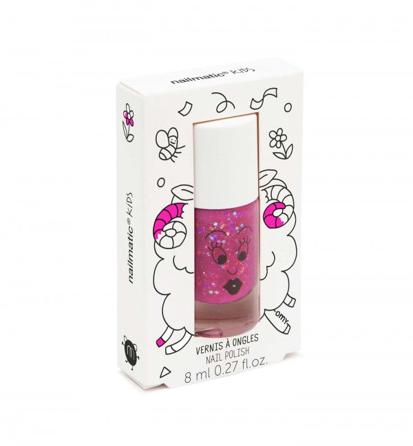 Nailmatic Water Based Nail Polish Raspberry Glitter