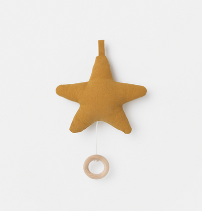 Ferm Living Star Music Mobile - Mustard