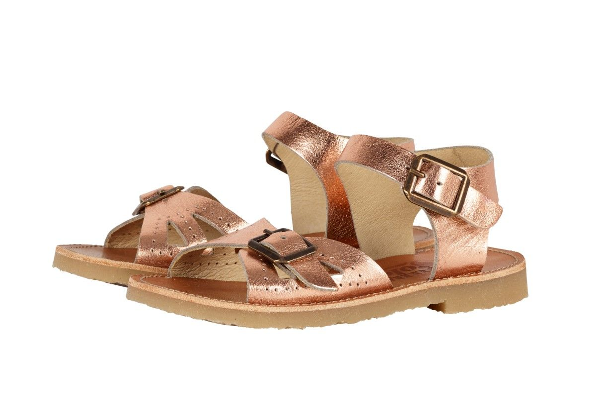 Young Soles Pearl Sandals   Rose Gold - Le Petit Organic