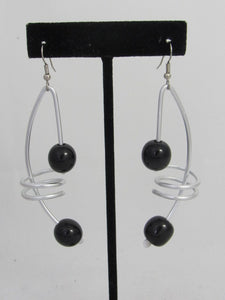 ER 102  Tagua Note Earrings