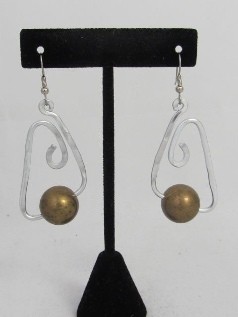 ER 55 B  Bermuda Ball Earrings