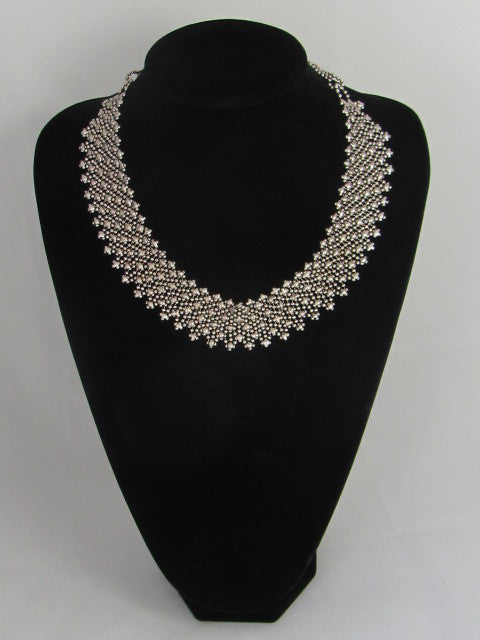 NKL 176 Fluid Metal Necklace